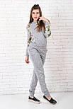 Жіночий костюм №211 сірий, фото 4