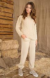 Женский вязанный костюм (кофта+штаны) №409