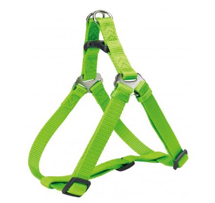 Шлея-петля Trixie Premium One Touch Harness для собак нейлонова, XL: 80-100 см/ 25 мм яскраво-зелена