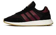 Оригинальные кроссовки Adidas Originals I-5923 Iniki Runner Black/Bordo (АРТ. B37946)