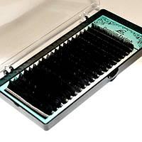 Ресницы черные Lex D 0.07 МИКС (8-12)