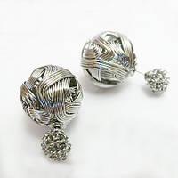 Пусеты Mise en Dior серебро