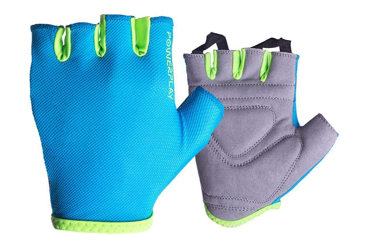 Рукавички для фітнесу PowerPlay 418 B жіночі Блакитні S