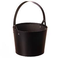 Коробка для цветов с ручкой ( картон ) черный цвет