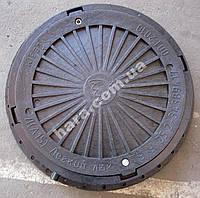 Люк канализационный пластиковый 3 т(черный)