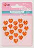 Набор кристалов самоклеющихся сердечки оранжевые, 18 шт
