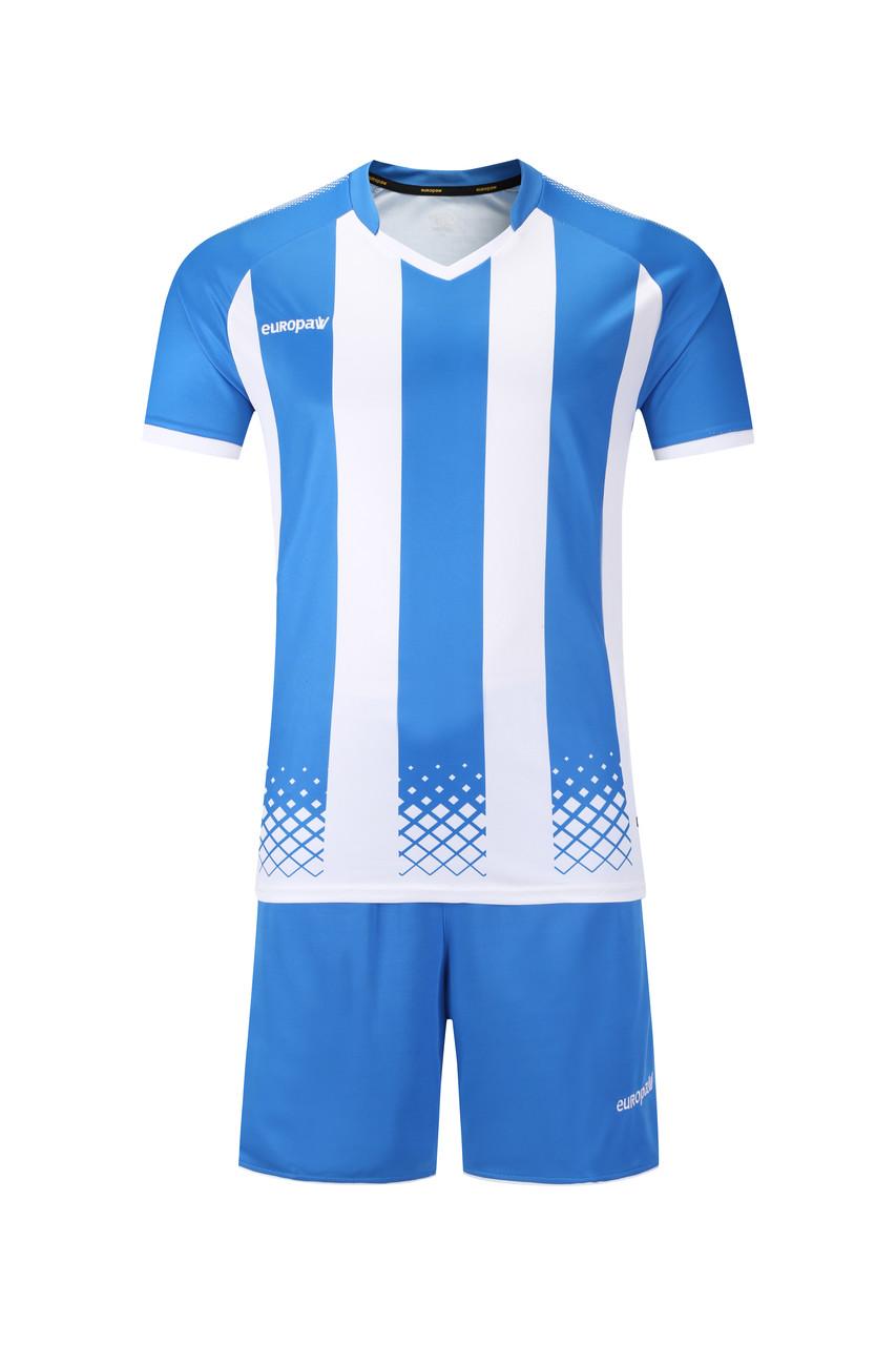Футбольная форма Europaw 020 голубо-белая
