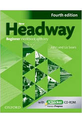New Headway 4th Edition Beginner WorkBook + key + iChecker CD-ROM