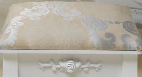 Туалетный столик белый + табурет