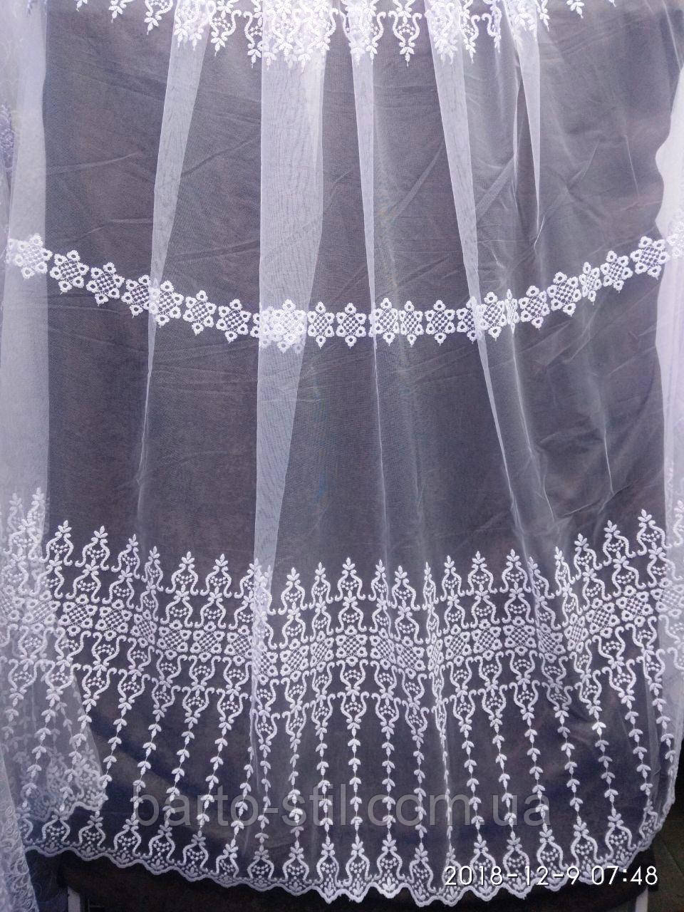 Фатиновая тюль с вышивкой Оптом и на метраж Высота 2.8 м