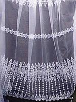 Фатиновая тюль с вышивкой Оптом и на метраж Высота 2.8 м, фото 1