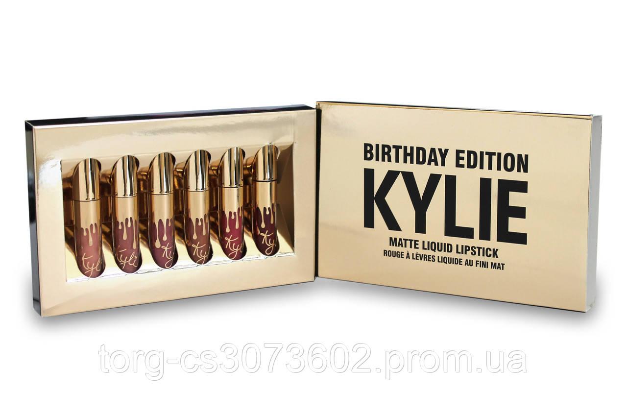Набір рідких матових помад Kylie Birthday Edition (6 відтінків)