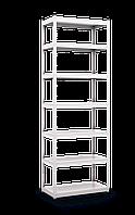 Стеллаж полочный Стандарт (2200х1100х600), на зацепах, 5 полок, 130 кг/полка, металлическая полка