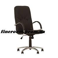 Кресло MANAGER steel chrome comfort+anyfix SP-A черный