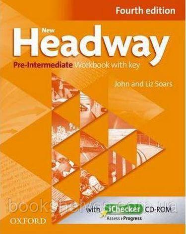 New Headway 4th Edition Pre-Intermediate Workbook + key + iChecker CD-ROM