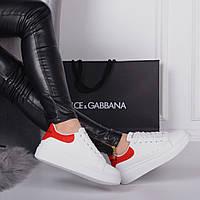 Женские кеды  белые  Alexander McQueen (реплика), фото 1