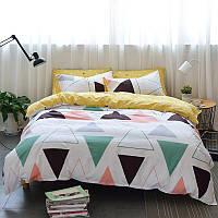 Хлопковый комплект постельного белья Большие треугольники (двуспальный-евро)