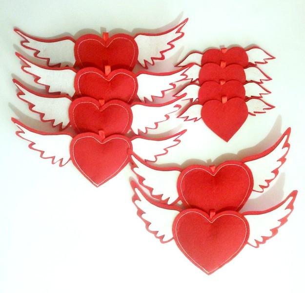 Набор сердец подвесных 10 шт арт 2012