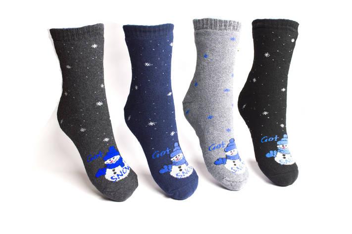 Шкарпетки махрові теплі жіночі 27 р. асорті, фото 2