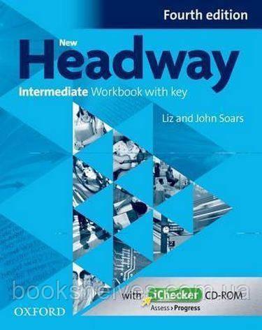 New Headway 4th Edition Intermediate WorkBook + key + iChecker CD-ROM
