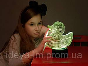"""Детский 3D ночник - светильник """" Уточка"""""""