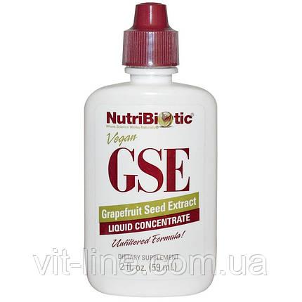 NutriBiotic, Рідкий концентрат GSE, з екстрактом насіння грейпфрута (59 мл), фото 2