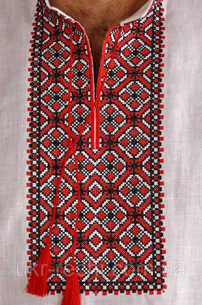 Мужская вышиванка узор красный и черный 98c58ed05f2e7