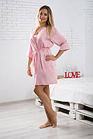 e69f175214323 Однотонный женский халат для дома из шелка Х09п, цена 480 грн ...