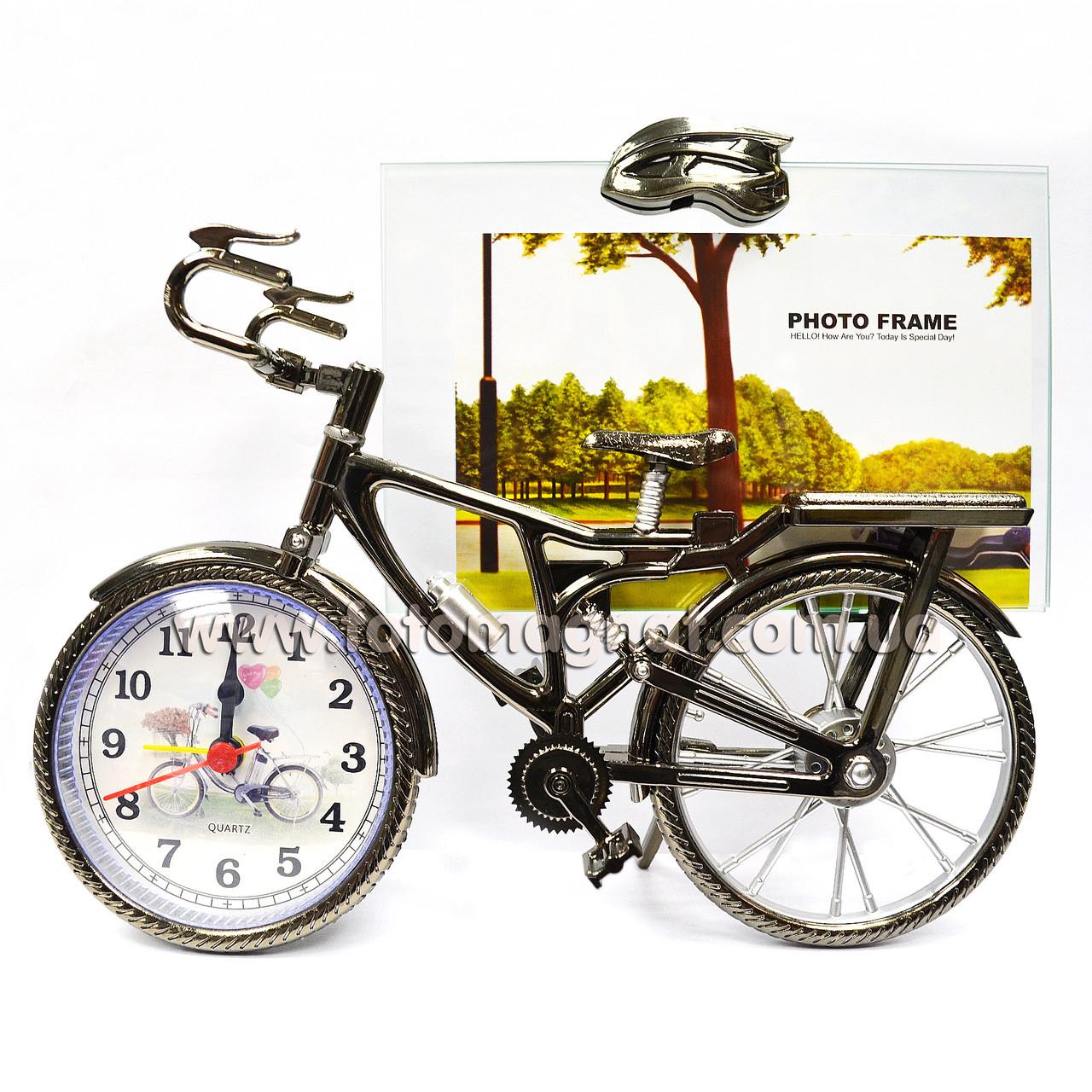 Часы фоторамка (Велосипед)