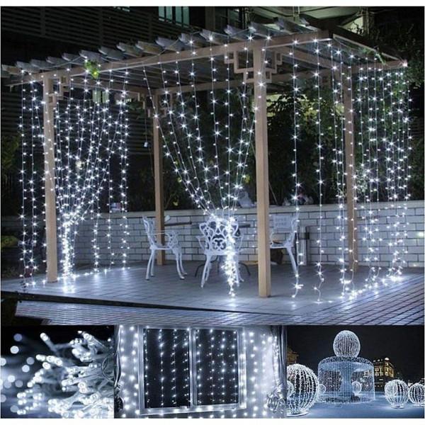Гирлянда штора 3x3 м 300 LED белый холодный