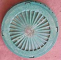 Люк канализационный пластиковый 3 т(зеленый)