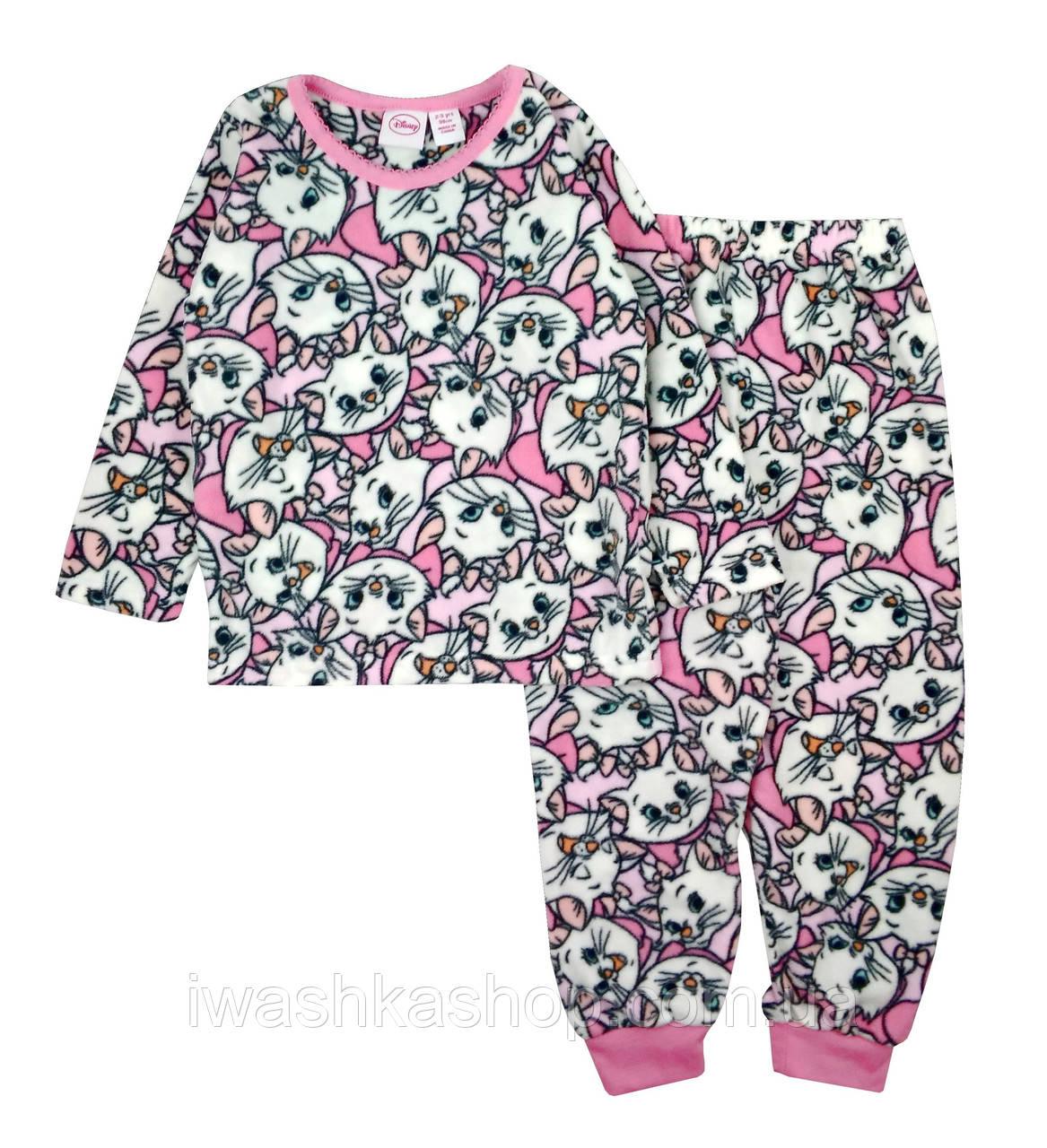 Теплая флисовая пижама с кошечкой Мари для девочки 2 - 3 года, р. 98, Primark / Disney.