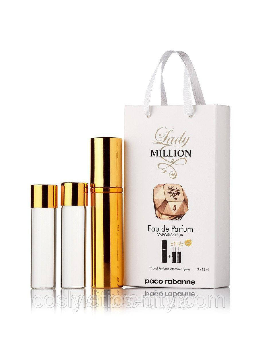 Мини-парфюм женский Paco Rabanne Lady Million, 3х15 мл