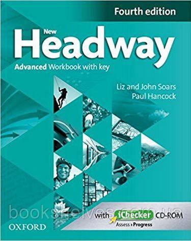 New Headway 4th Edition Advanced WorkBook + key + iChecker CD-ROM