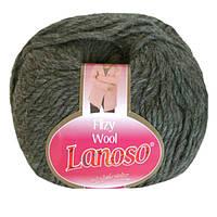 Зимняя пряжа Lanoso Filzy Wool 07 100% шерсть серая
