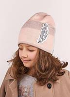 Детская  шапка для девочек АНЕЙС оптом размер 50-52