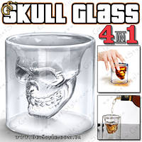 "Стакан-рюмка с черепом - ""Skull Glass"" - 4 шт."