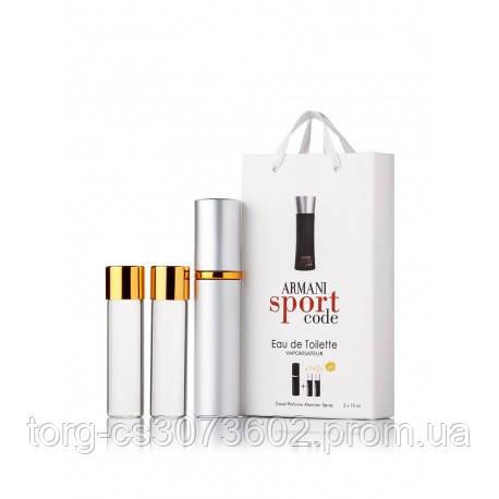 Мини-парфюм мужской Giorgio Armani Armani Code Sport, 3х15 мл