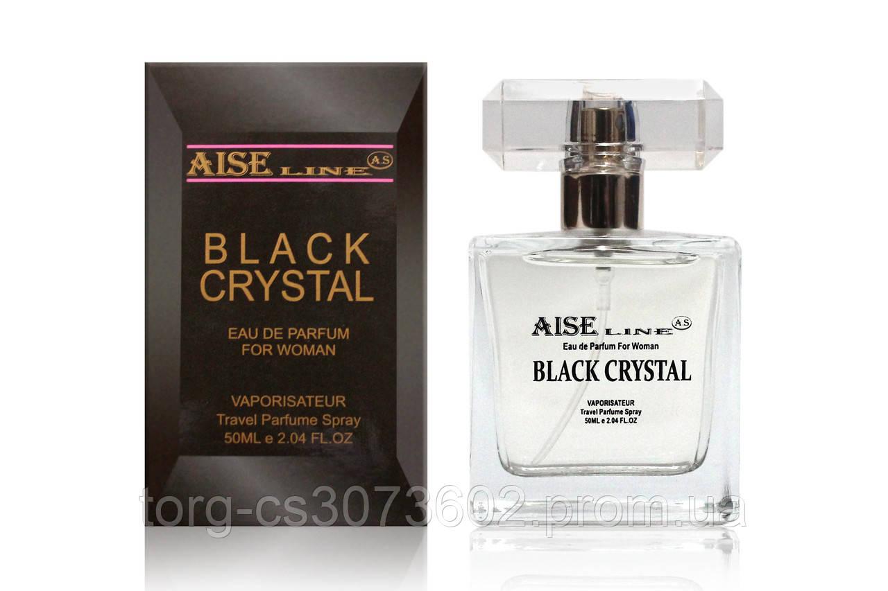 """Парфюмированный спрей Aise Line """"Black crystal"""" (аналог Versace Crystal noir), 50 мл."""