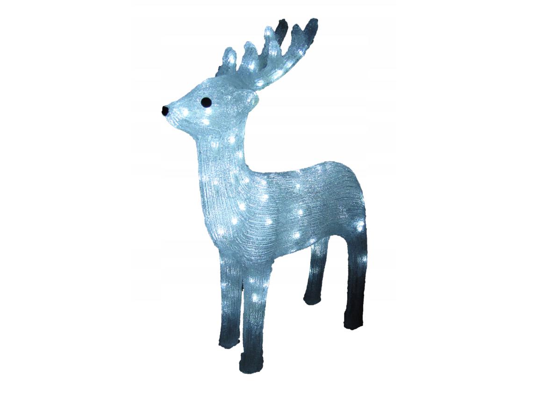 Новогодняя акриловая статуя олень средний, Светящиеся новогодние олени 120 LED
