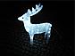 Новогодняя акриловая статуя олень средний, Светящиеся новогодние олени 120 LED, фото 3