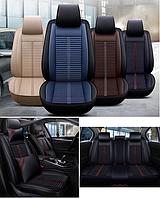 Модельные чехлы 5D на передние и задние сиденья автомобиля + подушки