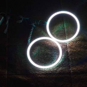 Светодиодные кольца RGB (ангельские глазки) 90-102 мм. COB  суперяркие ПАРА, фото 2