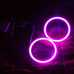 Светодиодные кольца RGB (ангельские глазки) 90-78 мм. COB  суперяркие ПАРА, фото 2