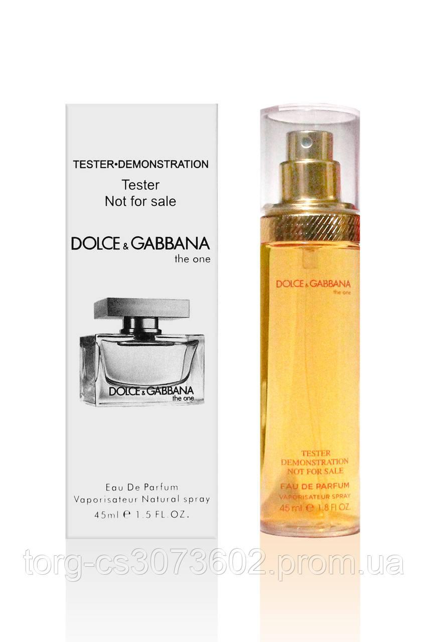 Тестер женский 45 мл. Dolce & Gabbana The one woman