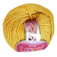 Зимняя пряжа Lanoso Filzy Wool 20 100% шерсть горчичная