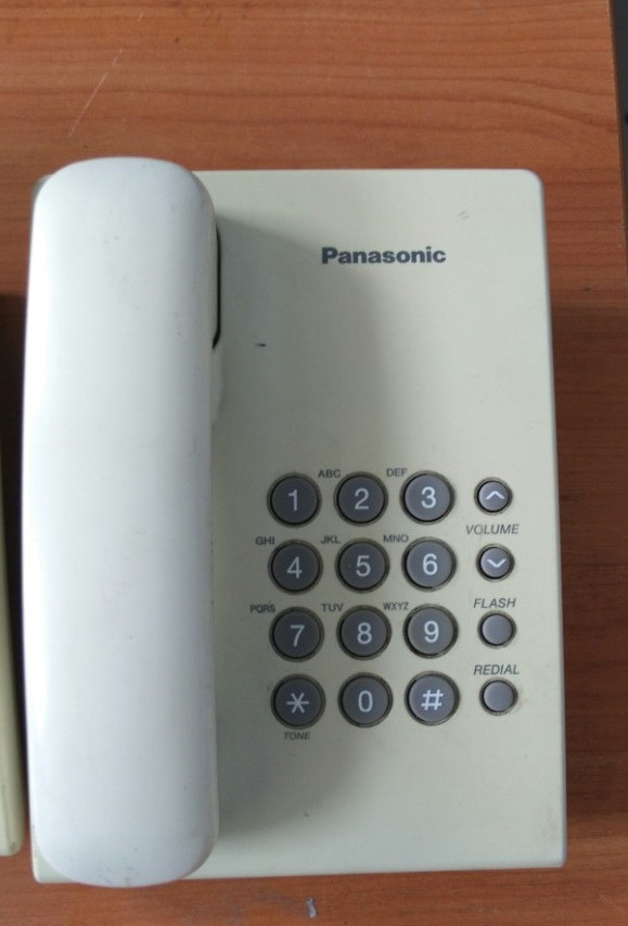 Офисный телефон Panasonic KX-TS2350UAW БУ белый