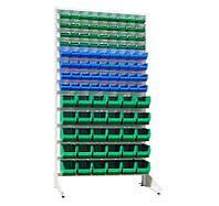 Стеллаж Универсал Н-1800 мм комплект с 36 шт цветных кювет №703, 36 шт №702, 30 шт №701, одностор