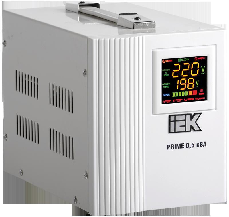 Стабилизатор напряжения Prime 0,5 кВА симисторный переносной, IEK