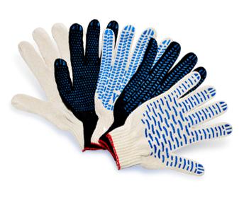 Трикотажные перчатки с ПВХ точкой